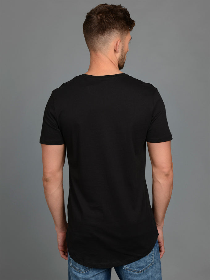 NOA BASIC LONG FIT T-SHIRT BLACK