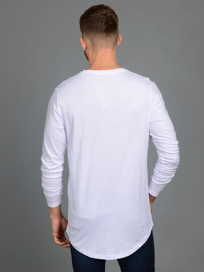 NOA BASIC LONG FIT LONG SLEEVE T-SHIRT WHITE