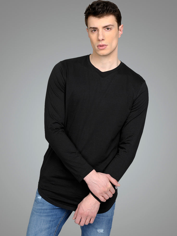 NOA BASIC LONG FIT LONG SLEEVE T-SHIRT BLACK