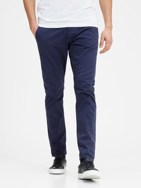 NAVY MARCO FIT CHINO PANTS