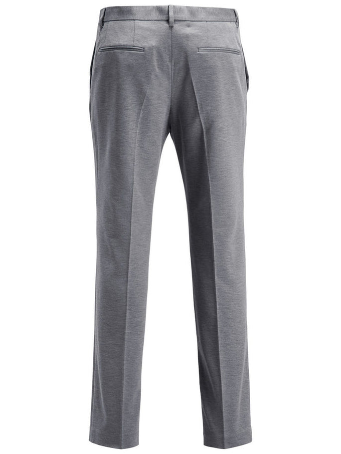 MINIMALIST STRETCH DRESS PANTS Light Grey Melange