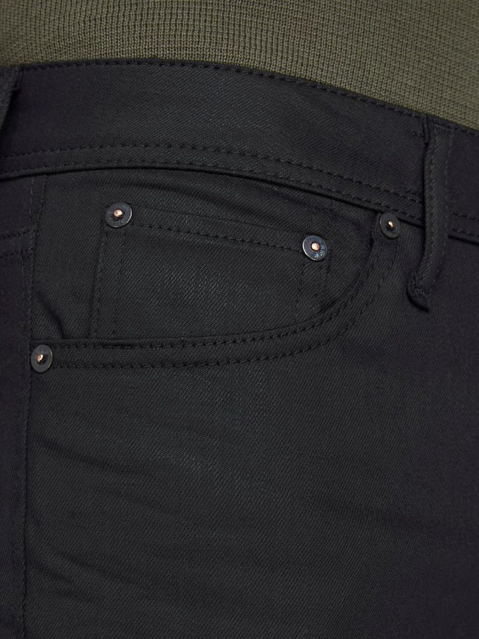 TIM 220 COATED JEANS SLIM STRAIGHT FIT Black Denim