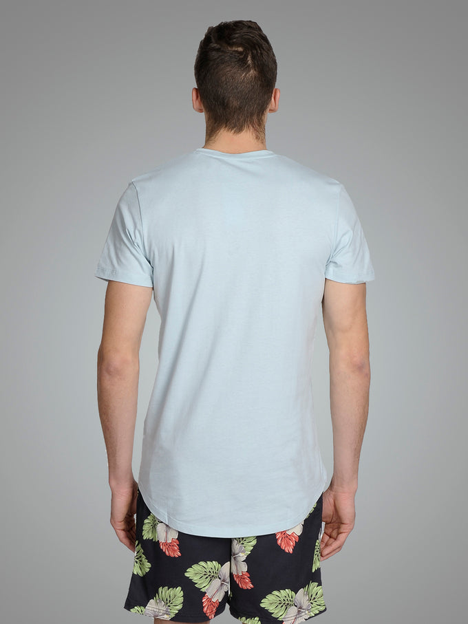 LONG CURVED T-SHIRT Winter Sky