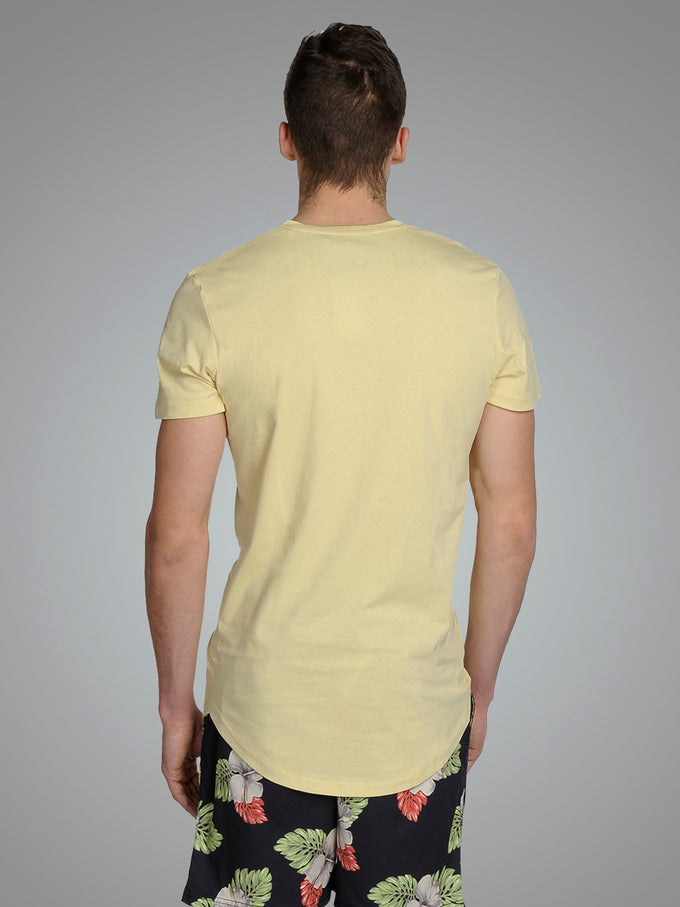 LONG CURVED T-SHIRT Golden Mist