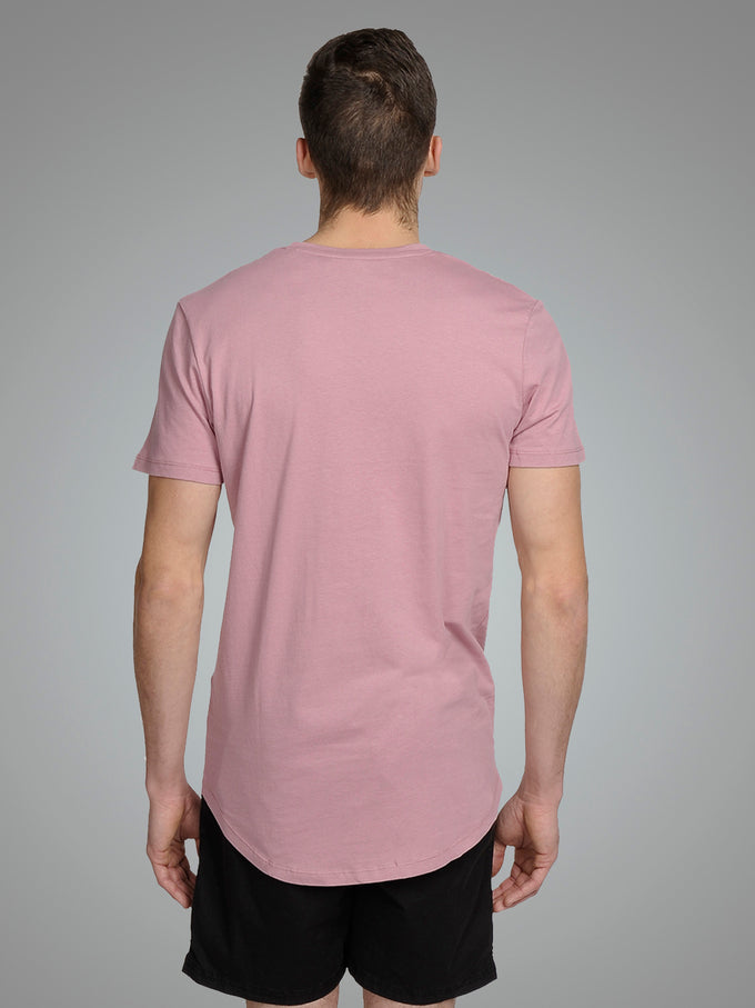 LONG CURVED T-SHIRT Lilas