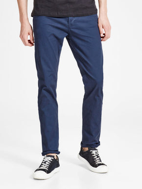 TIM 410 SLIM FIT NAVY PANTS
