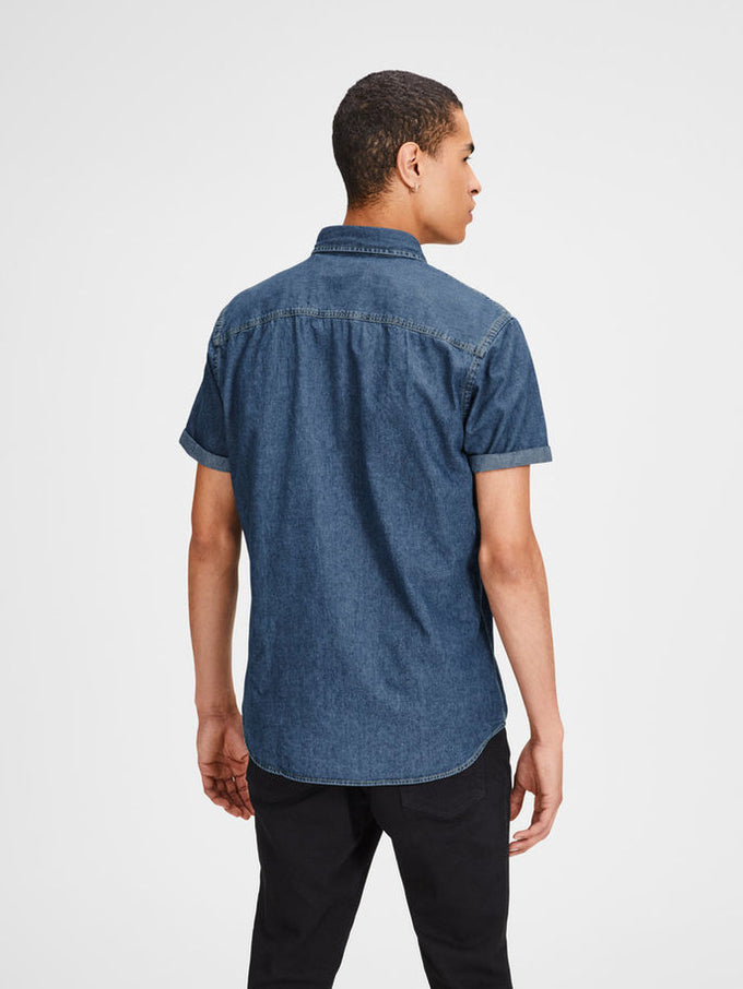 CLASSIC DENIM SHORT SLEEVE SHIRT Blue Denim