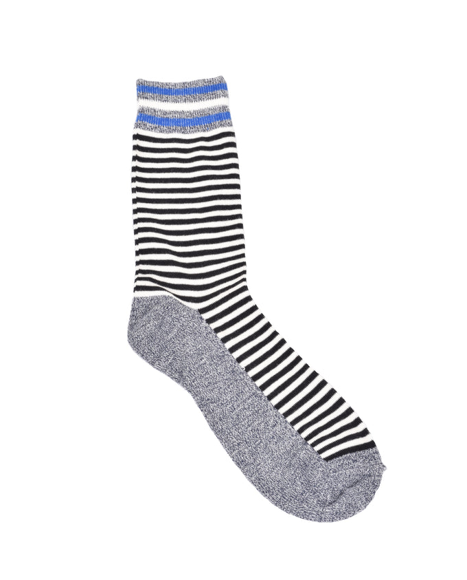 MULTICOLOUR STRIPED SOCKS Black