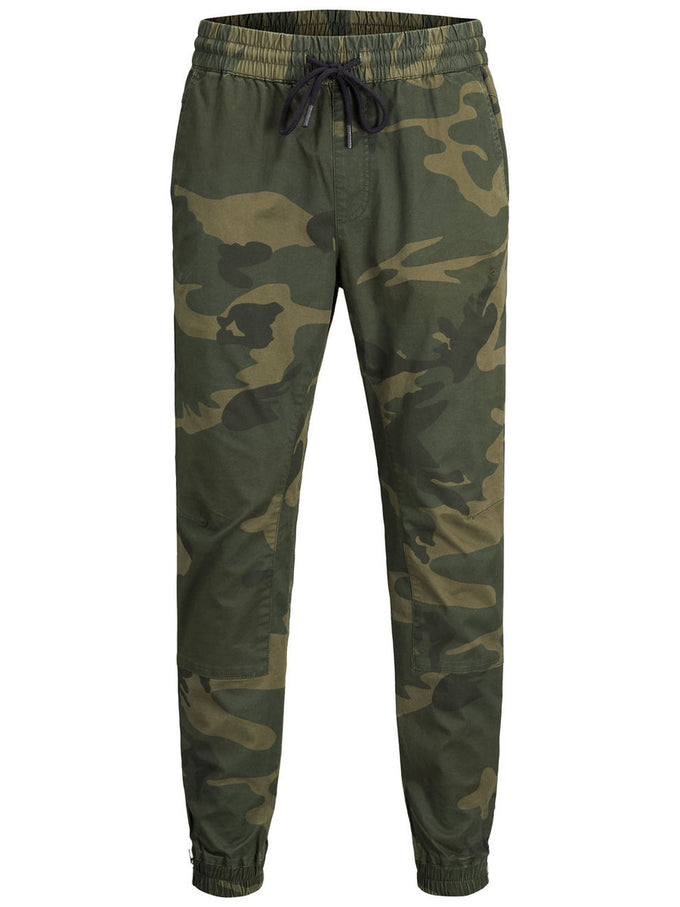 CAMO JOGGER PANTS WITH ZIPS Forest Night