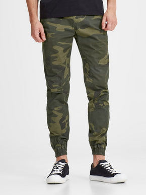 CAMO JOGGER PANTS WITH ZIPS