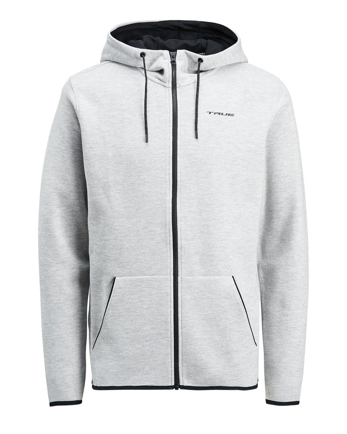 TRUEXCORE TECH DRY ZIP-UP HOODIE Light Grey Melange