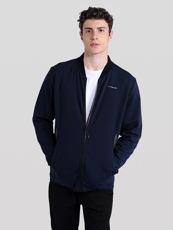 TRUEXCORE TECH DRY ZIPPED CARDIGAN Navy Blazer