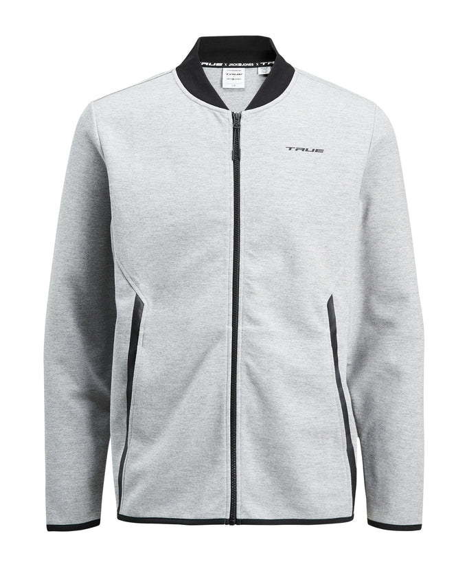 TRUEXCORE TECH DRY ZIPPED CARDIGAN Light Grey Melange