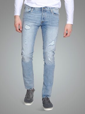 SLIM FIT GLENN 709 JEANS WITH USED DETAILS