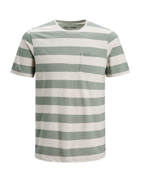 PREMIUM STRIPED T-SHIRT WITH POCKET