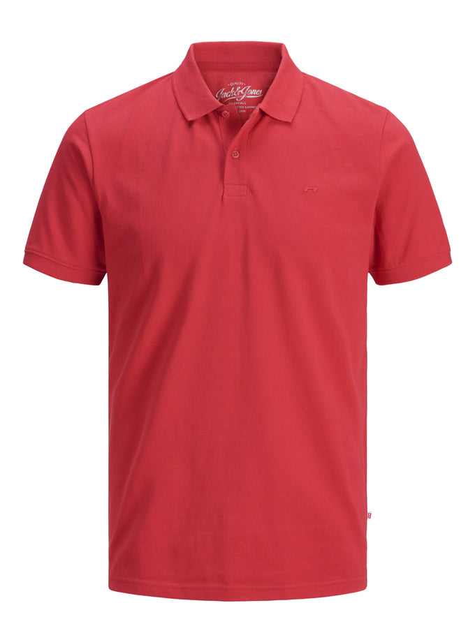 SLIM FIT BASIC POLO Tango Red