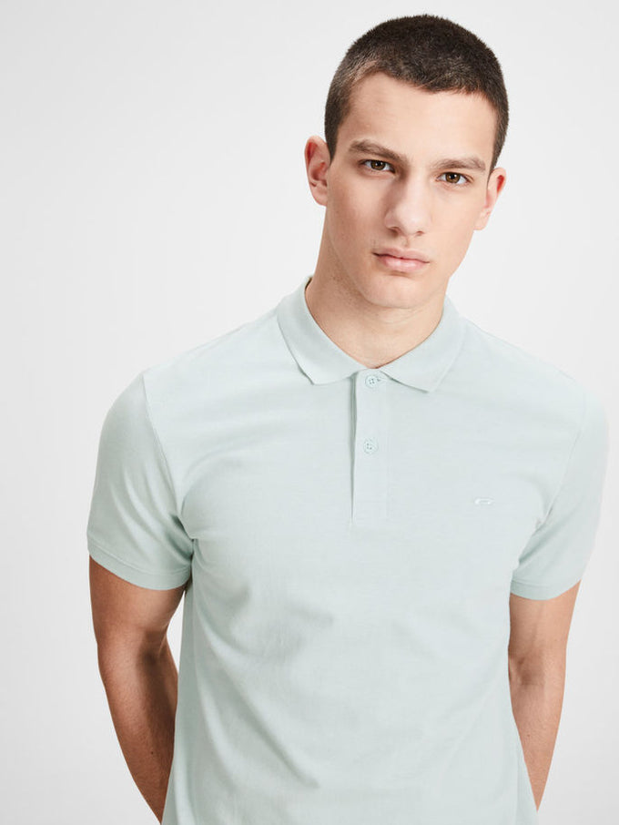 SLIM FIT BASIC POLO Blue Haze