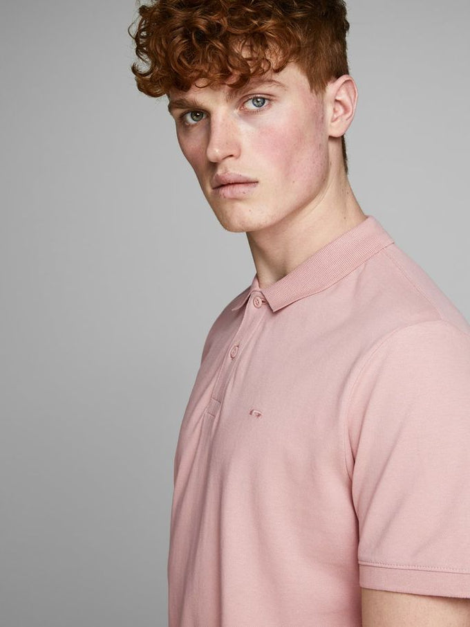 SLIM FIT BASIC POLO Misty Rose