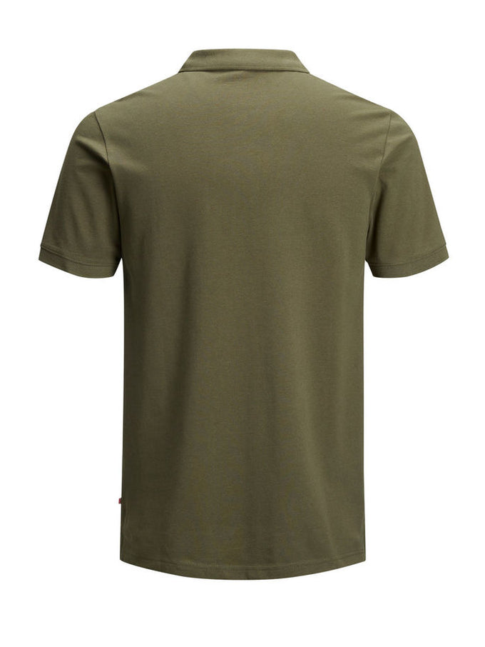 SLIM FIT BASIC POLO Olive Night