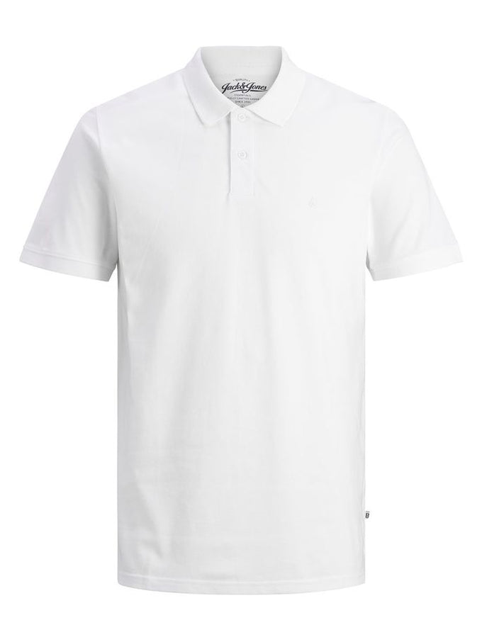 SLIM FIT BASIC POLO White