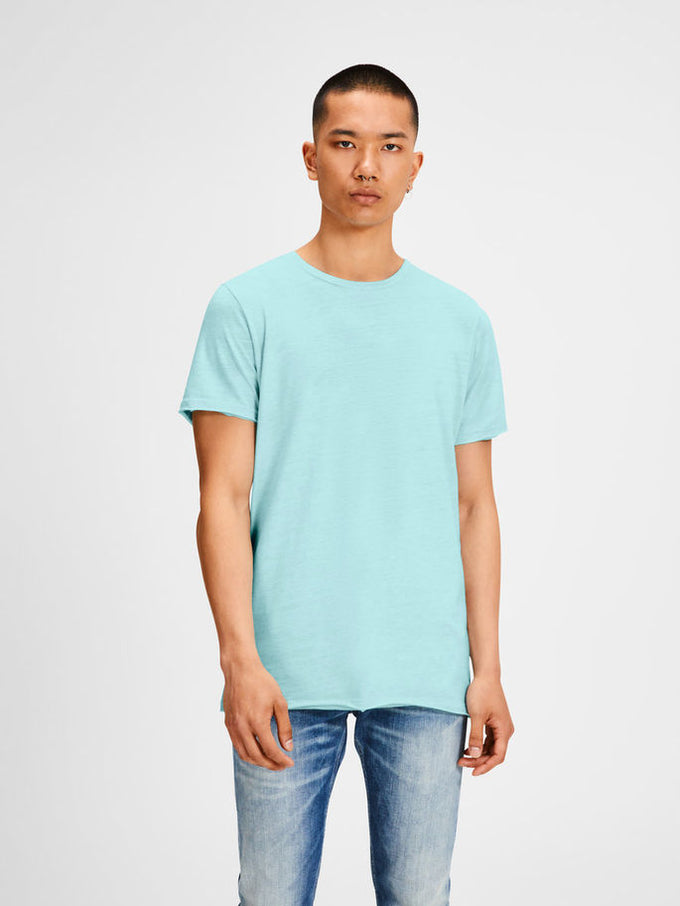TONE-ON-TONE LONG FIT ORIGINALS T-SHIRT Plume