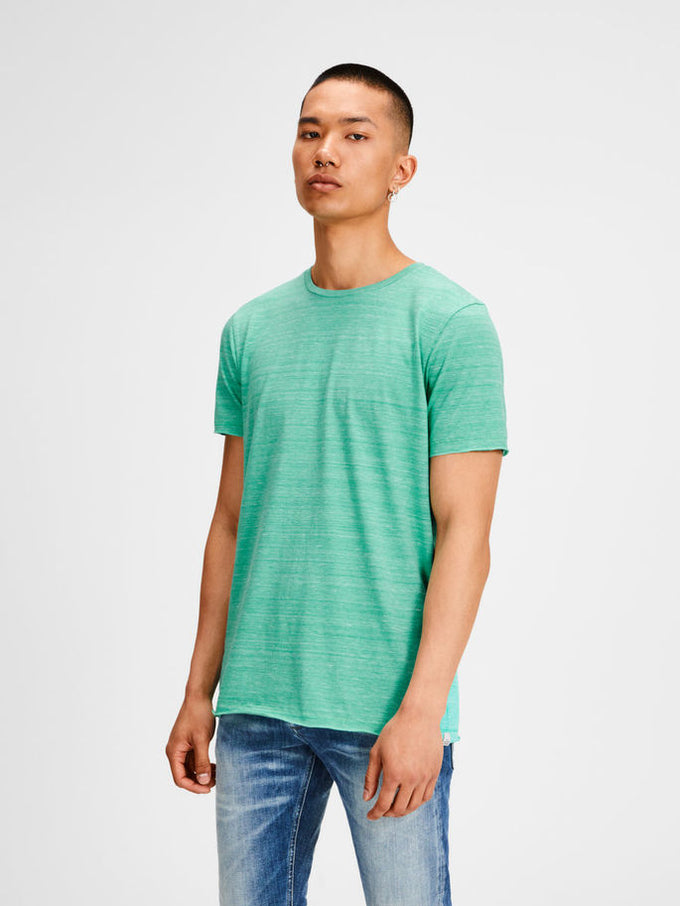 TONE-ON-TONE LONG FIT ORIGINALS T-SHIRT Spring Bud