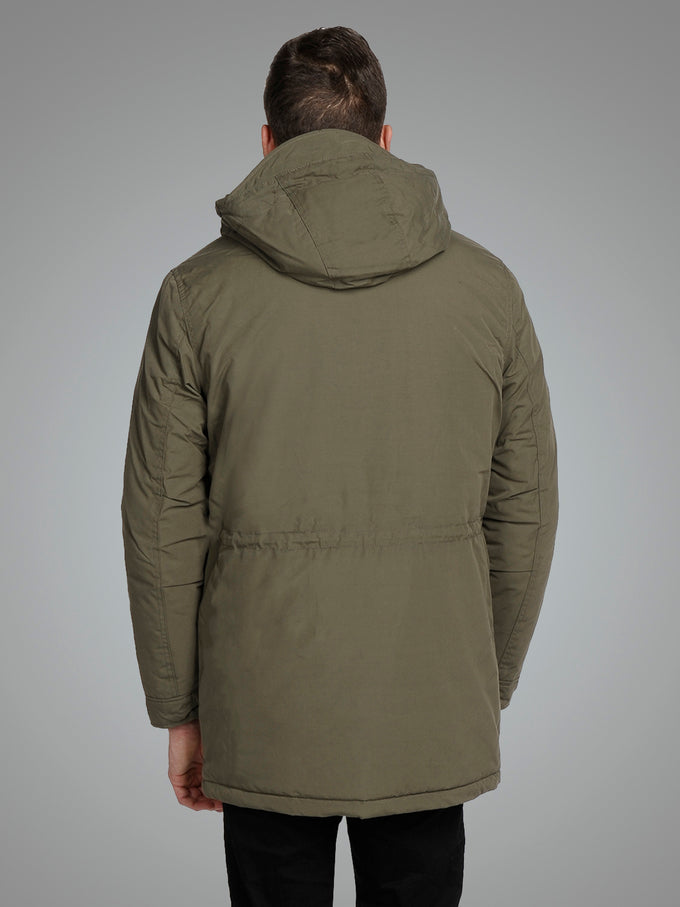 PREMIUM PARKA WITH TEDDY LINING Olive Night