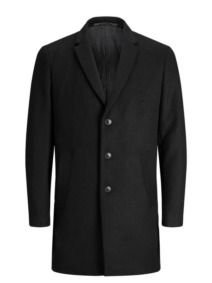 WOOL DRESS COAT Black