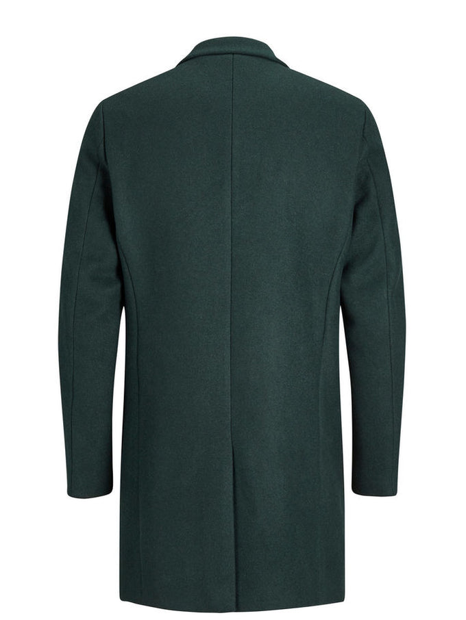 WOOL DRESS COAT Dark Green