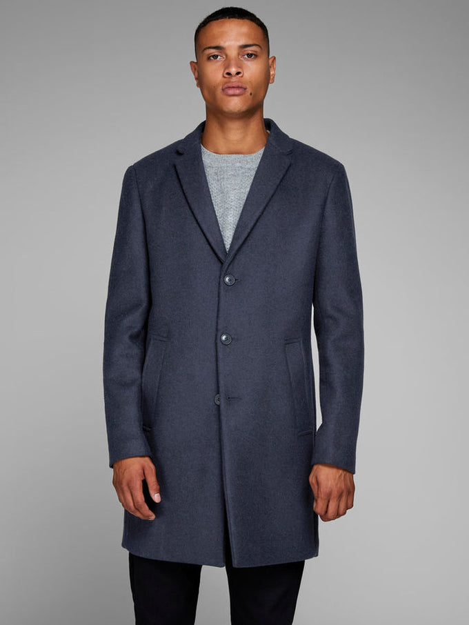 WOOL DRESS COAT Dark Navy