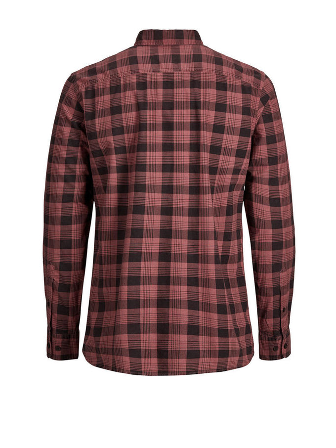 CHECKERED COMFORT FIT ORIGINALS SHIRT Dusty Cedar