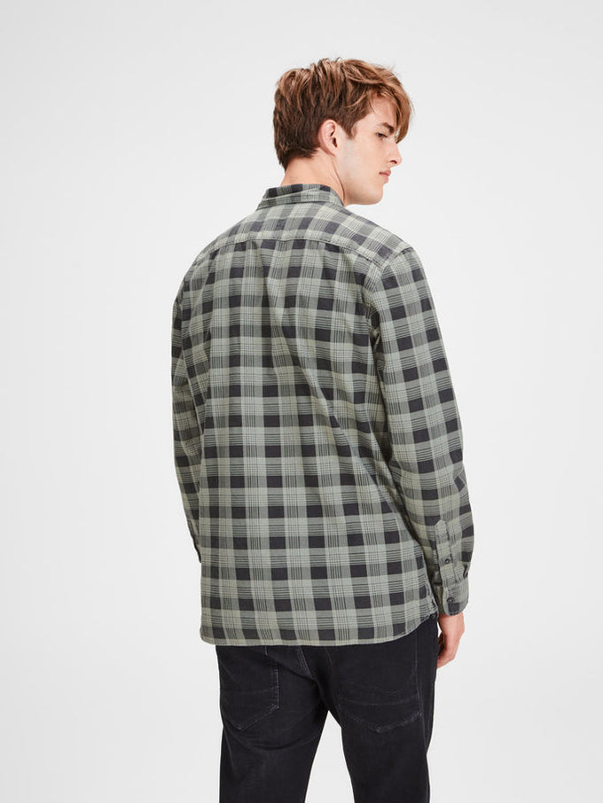 CHECKERED COMFORT FIT ORIGINALS SHIRT Dusty Olive