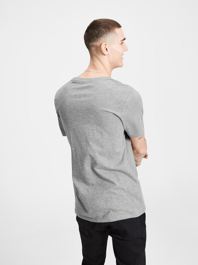 SLIM FIT LOGO T-SHIRT Light Grey Melange