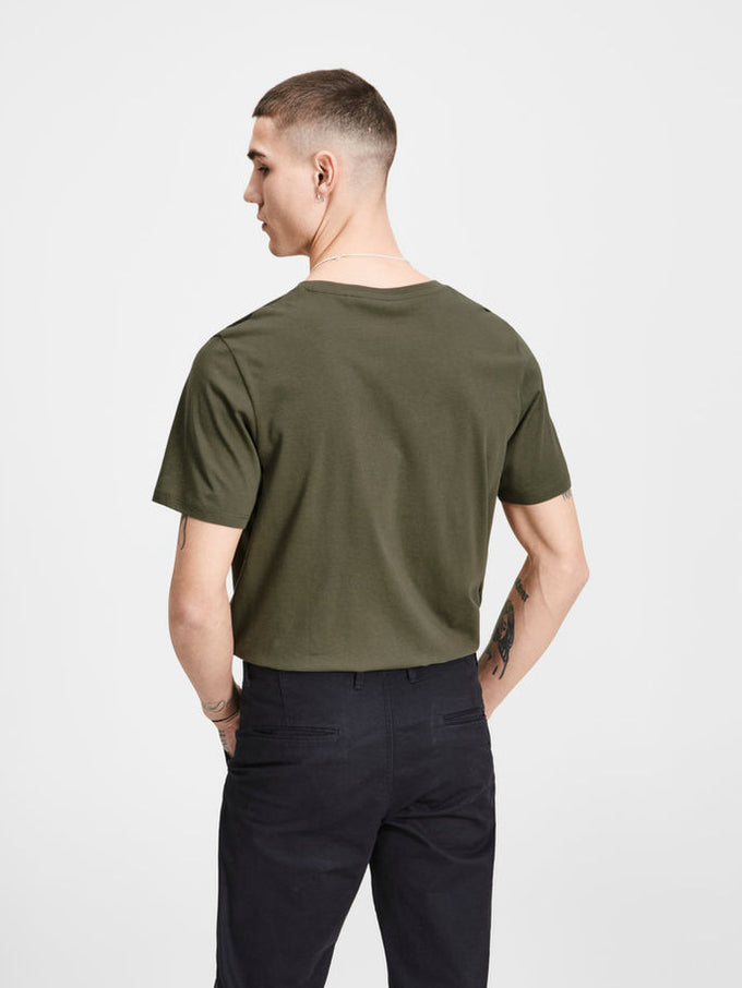 SLIM FIT LOGO T-SHIRT Olive Night