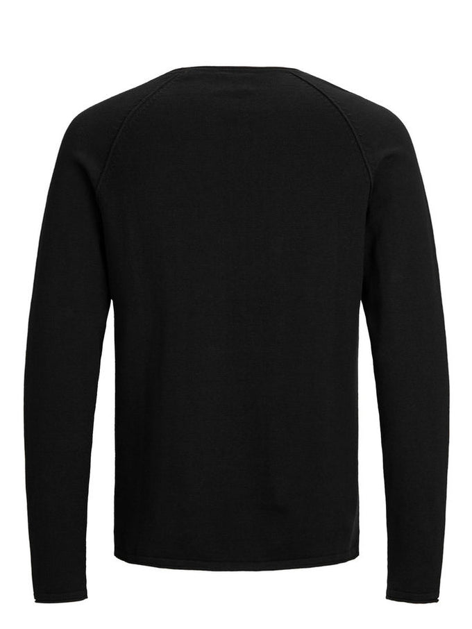 BASIC ESSENTIAL SWEATER Black