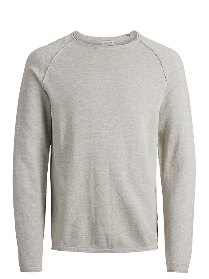BASIC ESSENTIAL SWEATER Oatmeal