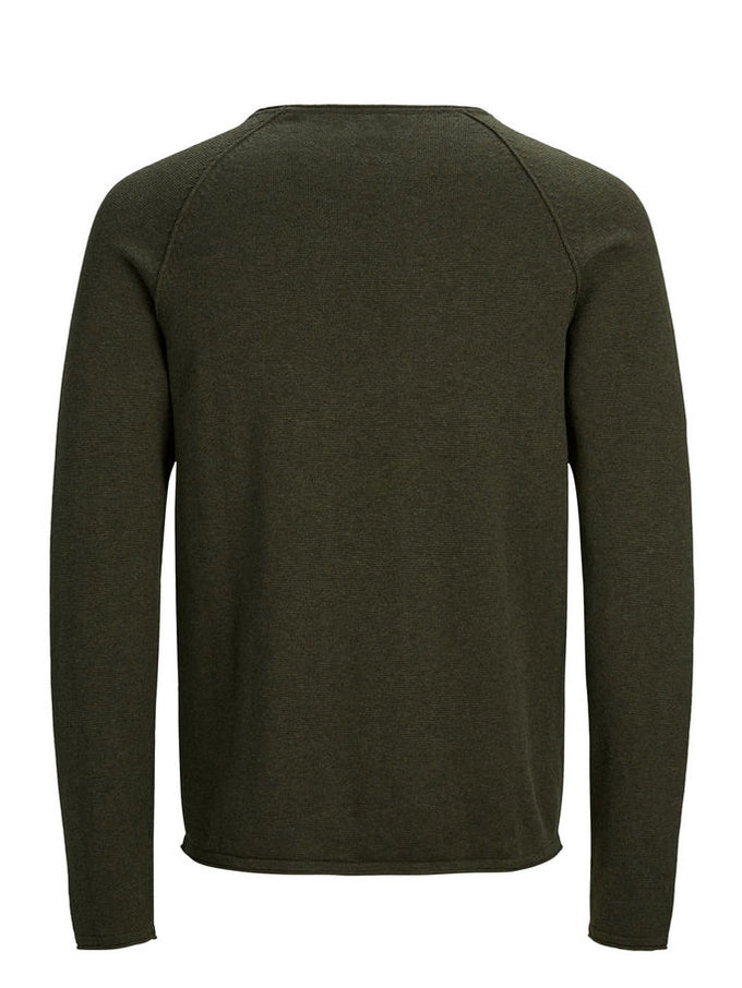 BASIC ESSENTIAL SWEATER Olive Night