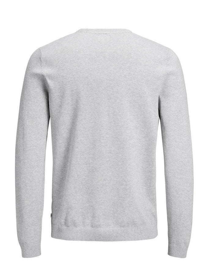 LIGHTWEIGHT ESSENTIAL SWEATER Light Grey Melange