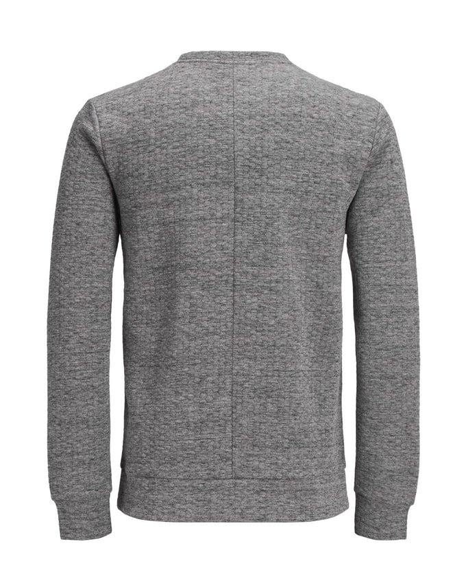 PATTERNED PREMIUM SWEATSHIRT Grey Melange