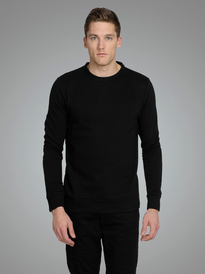 PATTERNED PREMIUM SWEATSHIRT Black