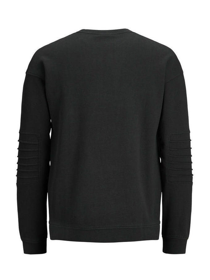 SWEATSHIRT WITH RIBBED SLEEVES Black