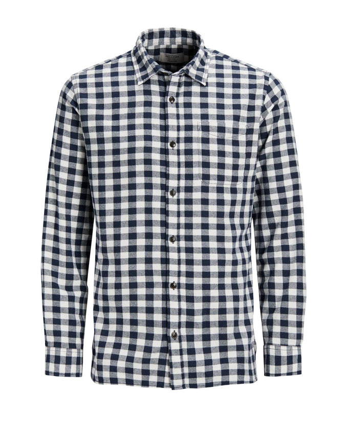 FLANNEL STYLE GINGHAM SHIRT Cloud Dancer
