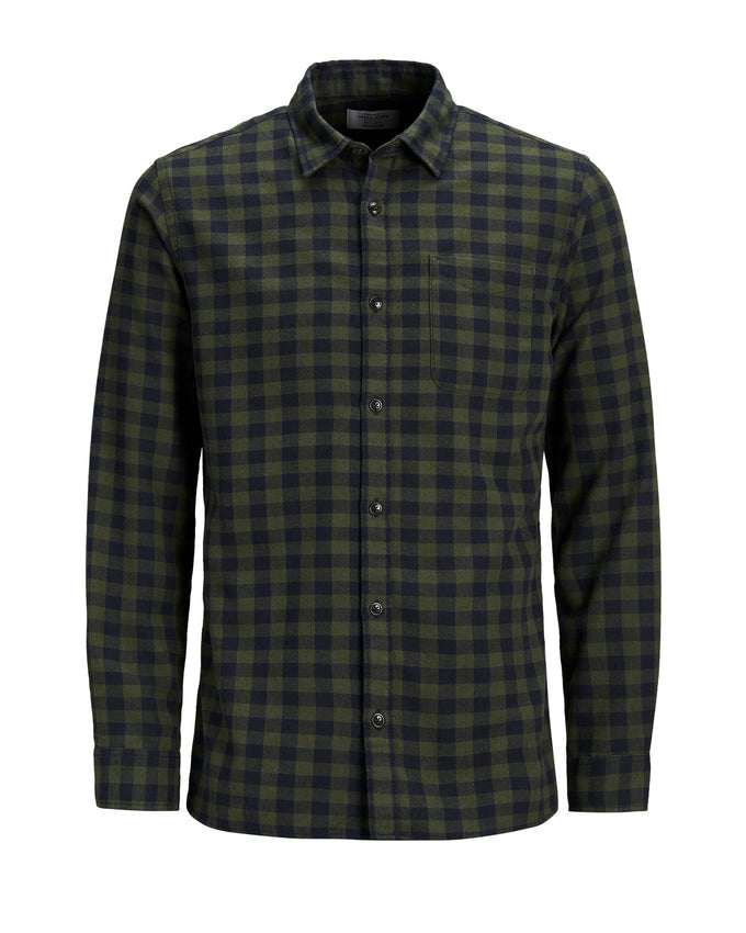 FLANNEL STYLE GINGHAM SHIRT Forest Night
