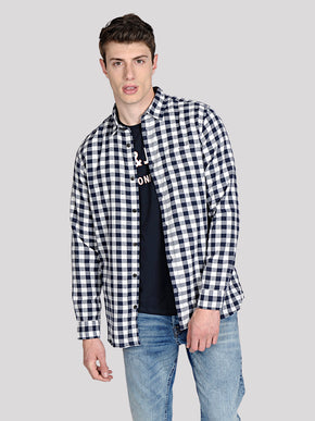 FLANNEL STYLE GINGHAM SHIRT
