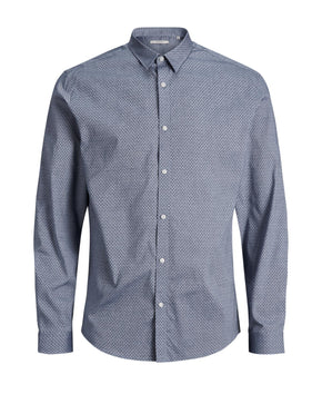 COMFORT FIT MICRO-PRINT DRESS SHIRT