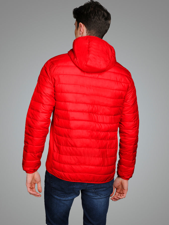 WINDPROOF PUFFER JACKET Tango Red