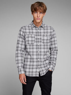 WORKER STYLE CHECKERED SHIRT