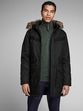 CORE PARKA WITH FAUX-FUR HOOD