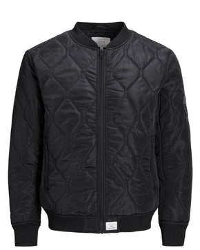 QUILTED BOMBER JACKET WITH CONTRAST LINING