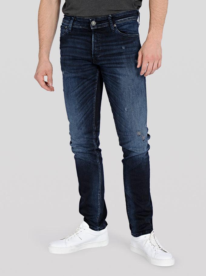 SUPER STRETCH SLIM FIT GLENN 205 JEANS Blue Denim